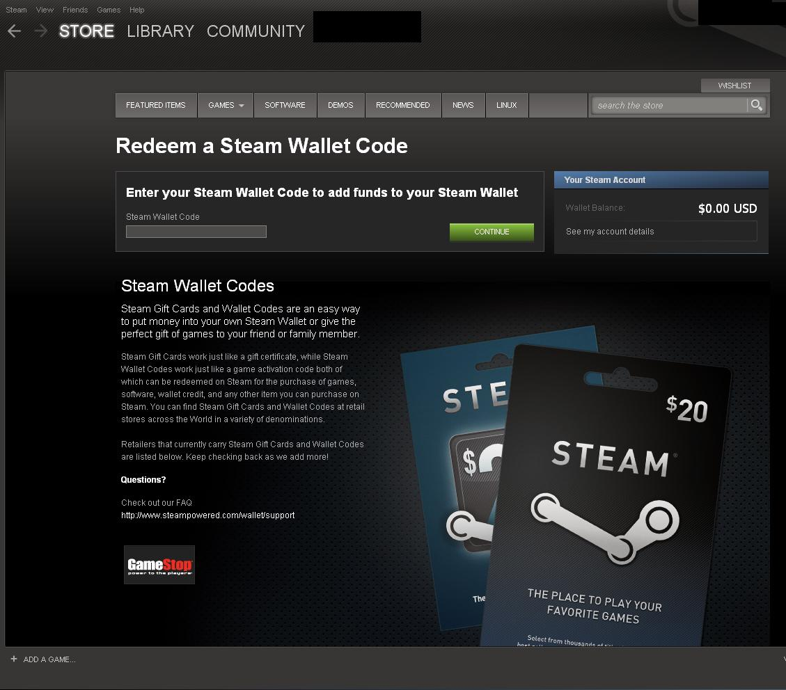 working steam wallet code